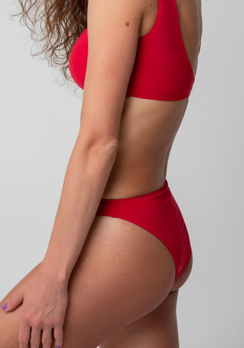 Bikini-Top in Sportoptik rot