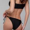 Bikinihose mit doppelter Schnürung schwarz