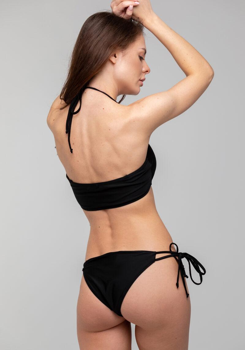 Bandeau Bikini Top schwarz