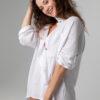 Oversize-Hemd aus Musselinstoff weiß