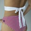 """Badeanzug """"Candy Suit"""" weiß/ rote Streifen"""