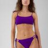 Bikinihose mit doppelter Schnürung lila