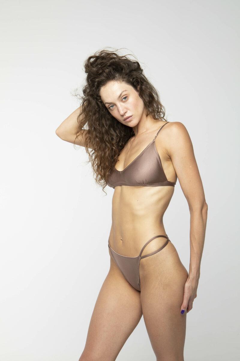 Triangel Bikini Top braun