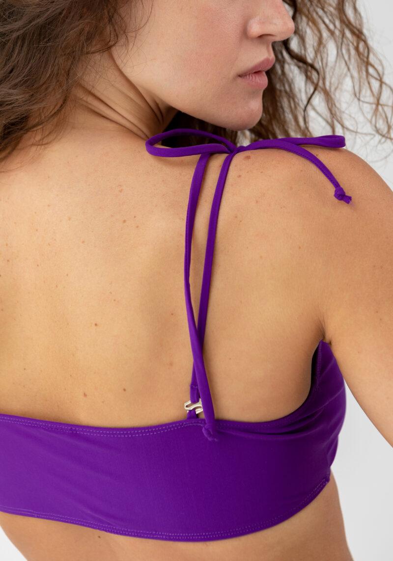 Bandeau Bikini Top violett
