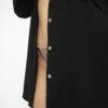 Oversize-Hemd aus Musselinstoff schwarz